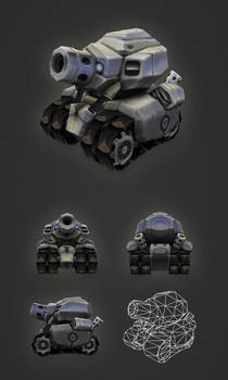 Low Poly Micro Tank
