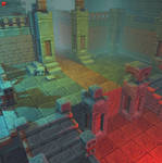 3D Pixel Dungeon Set 01
