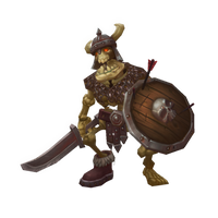 Low Poly Skeleton Warrior