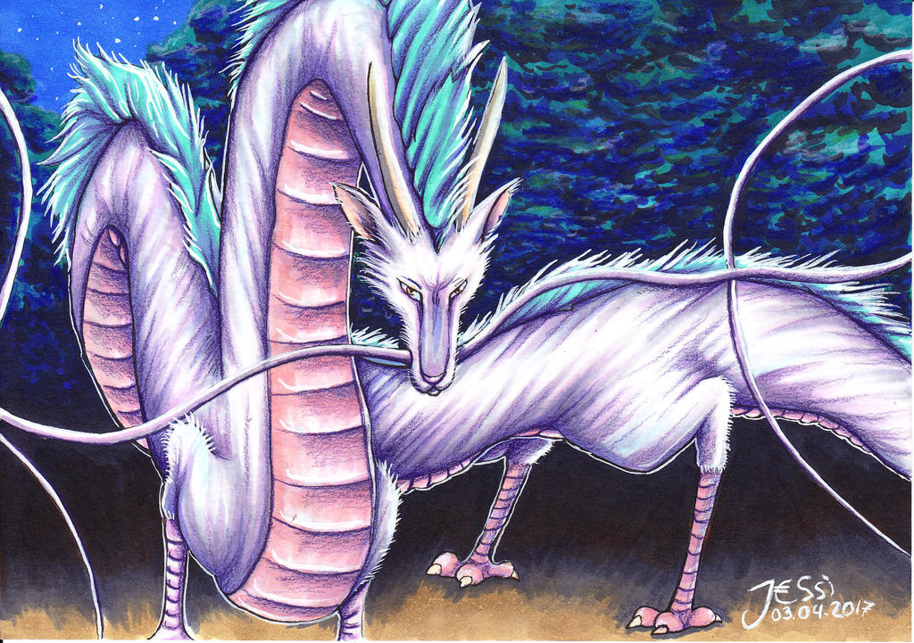 I'm here | Dragon Haku Spirited Away Ghibli by J-Ssi