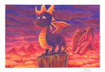 Spyro the Dragon | Acrylic Painting by J-Ssi