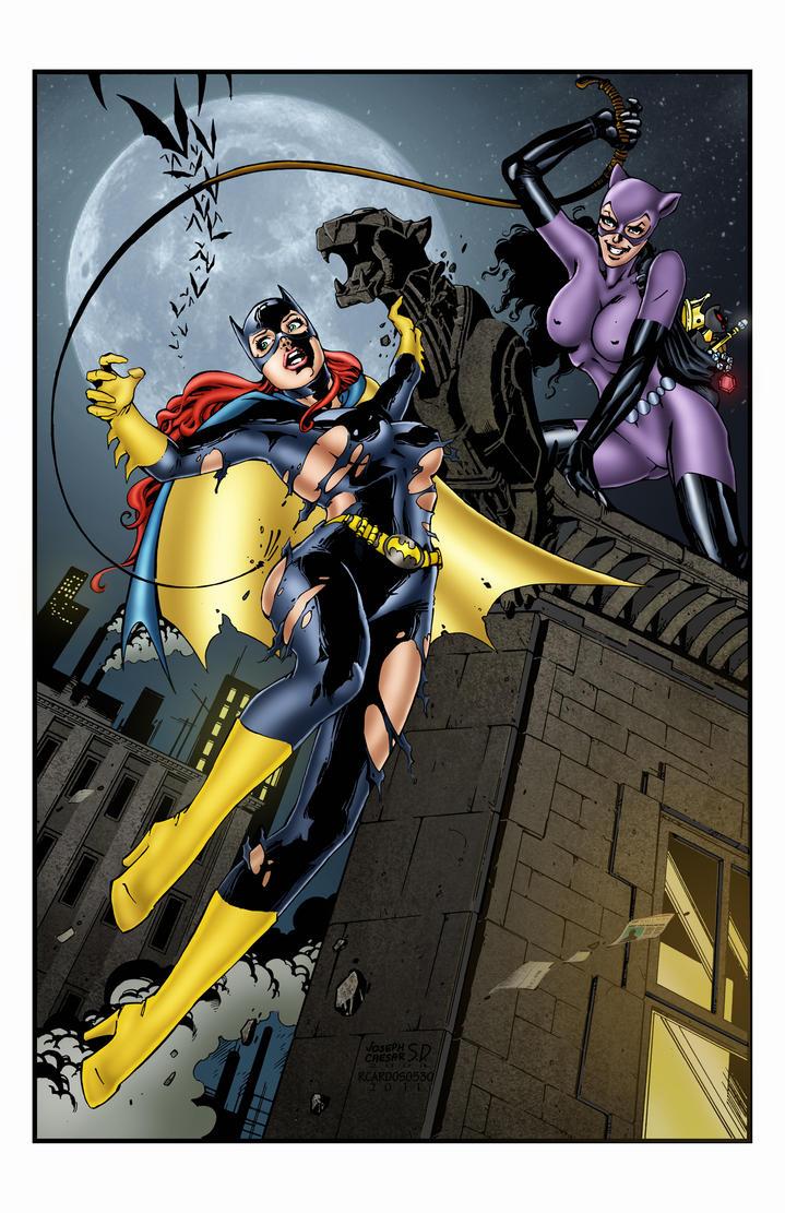 Batgirl Defeated Batgirl vs catgirl by