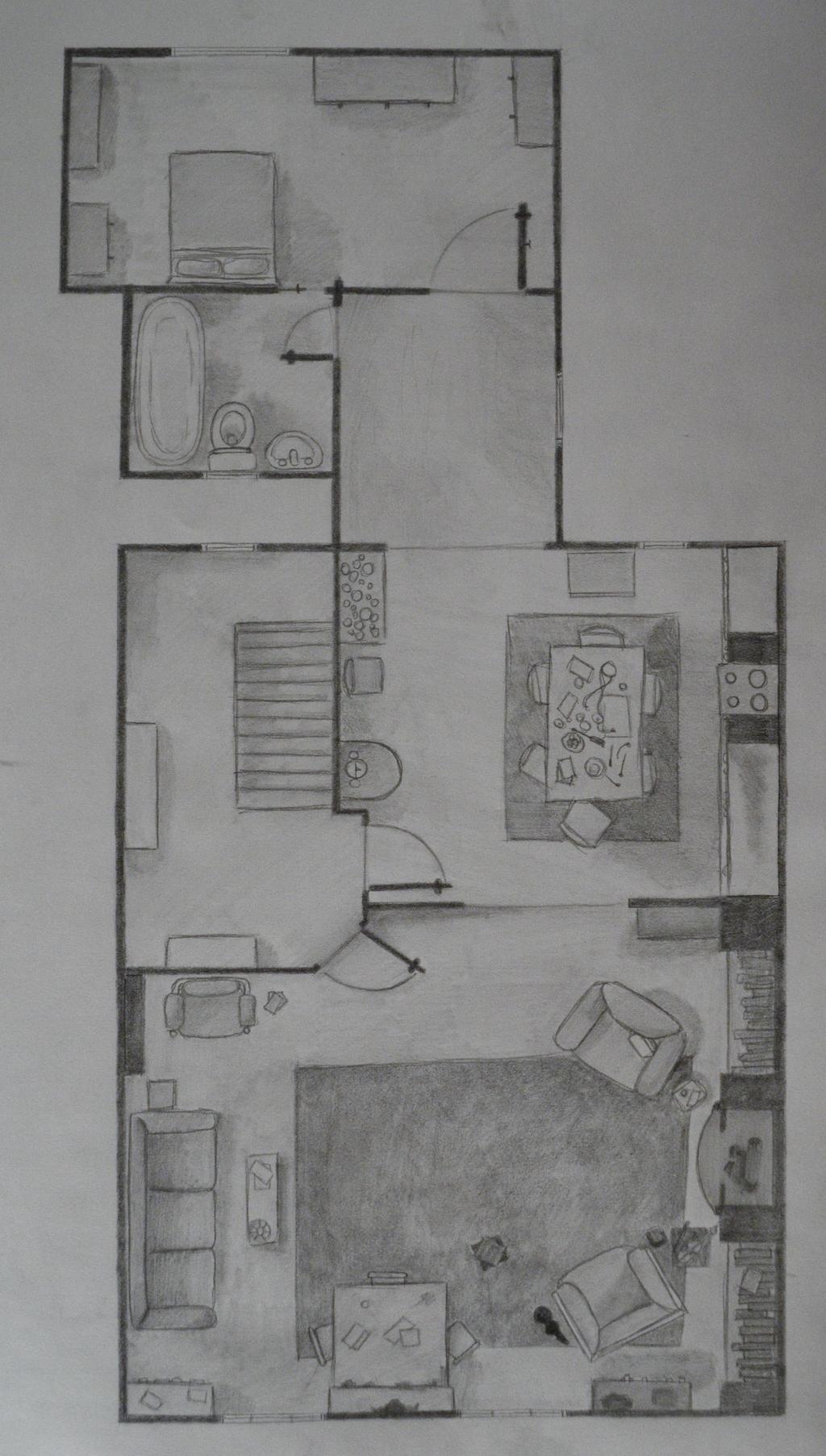 221b Baker Street Floor Plan Floorplan Of 221b Baker Street By Picturemusic779 On