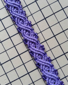 Lavender Infinity Hemp Bracelet Cuff