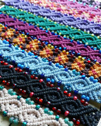 Infinity Hemp Bracelet Cuffs