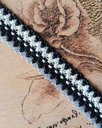 Yinyang Black and White Hemp Bracelet Cuff