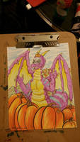 Dragon of the pumpkin patch! by Ratty08