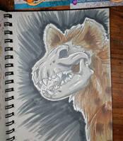 inktober 2015 Hyena Skull by Ratty08