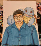 Trainer and Squirtle