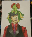 Trainer and Bellossom