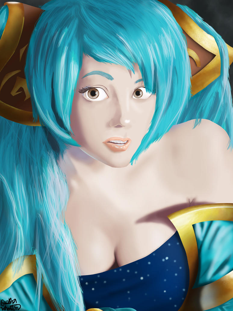 Only You Can Hear Me Summoner a Sona portrait by justinwharton
