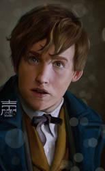 Newt Scamander by justinwharton