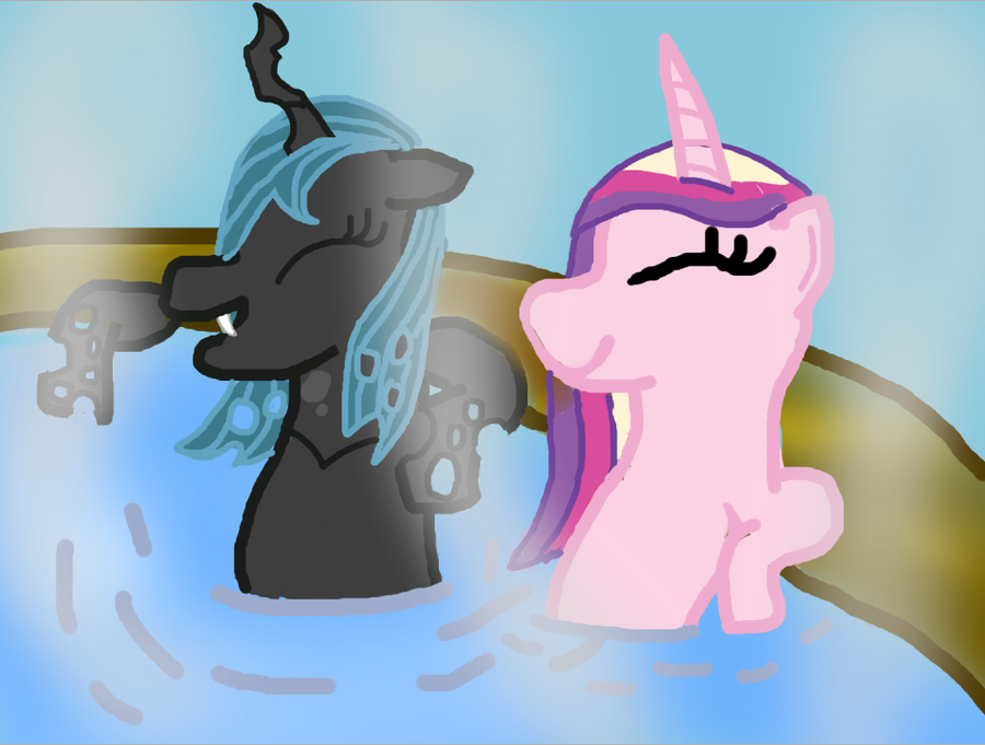 Queen Chrysalis And Princess Cadence Hot Tub Devious DiscordQueen Chrysalis X Princess Cadence