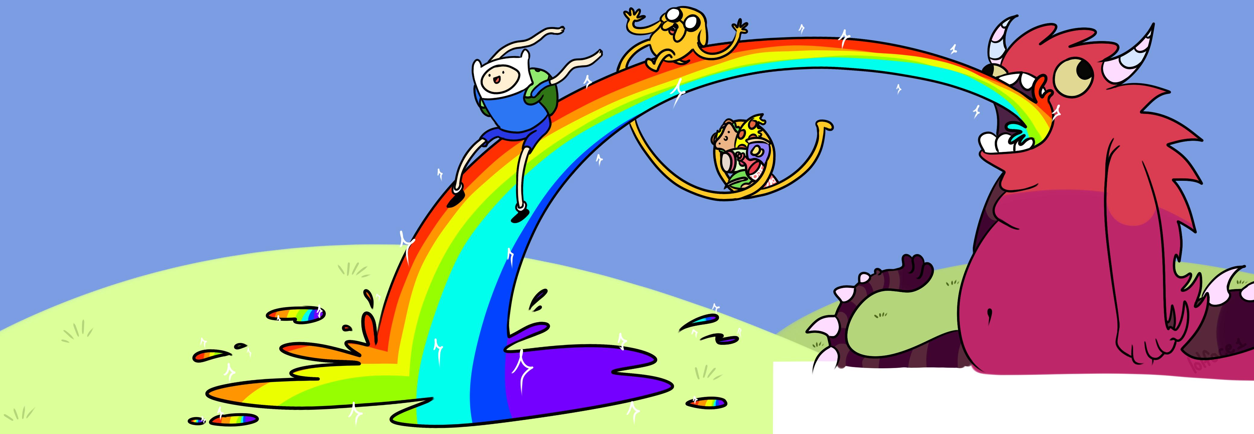 Adventure Time Dual Screen Wallpaper By Lolface1 On Deviantart