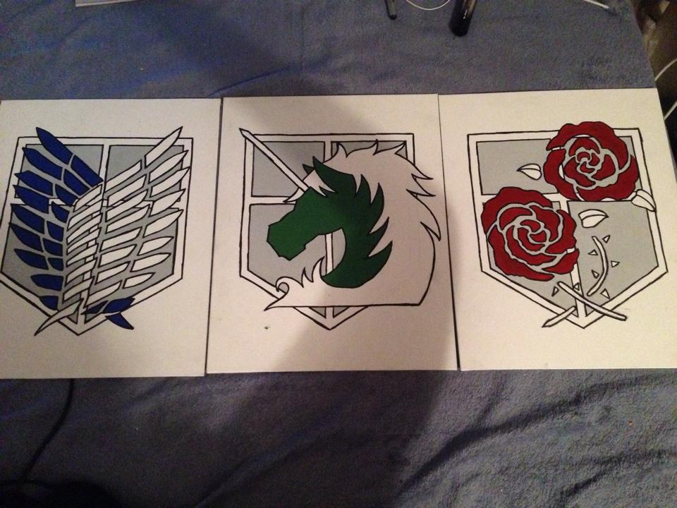Attack on Titan Emblems by AnimeEvolution101