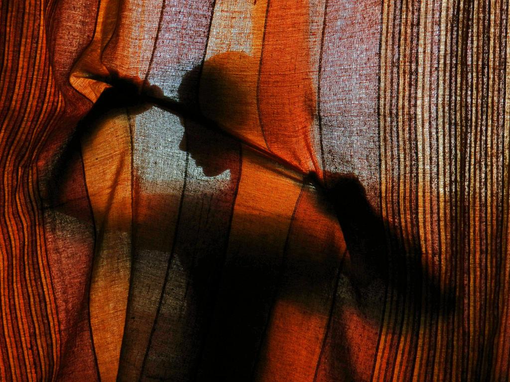 Behind the curtain by Ruxita