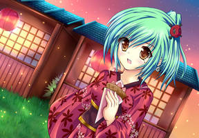 Enomoto Yoshika: Obon Festival by Yuki-333