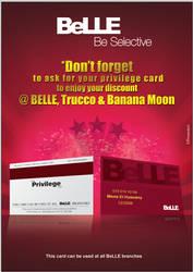 BeLLE Privilege card AD