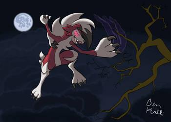 Midnight Lycanroc Slash in the Dark by Nijem