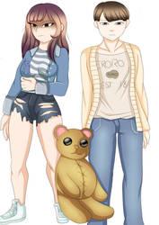 Hana and En by hwers