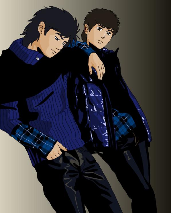 Kojiro and Genzo by kaori79
