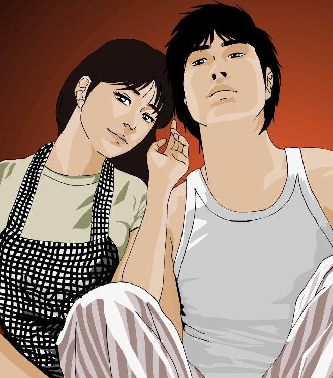 Matsuyama and Yoshiko by kaori79