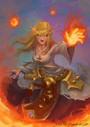 Fire Mage by DanOliveira