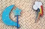 Trixie and Rainbow Dash CM Pins