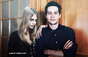 Manip   Dylan O'Brien and Cara Delevingne by chrissy-cost