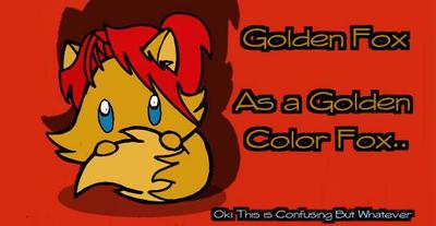 {Fanart} GoldenFox As a Golden Color Fox. by NightFallArt32