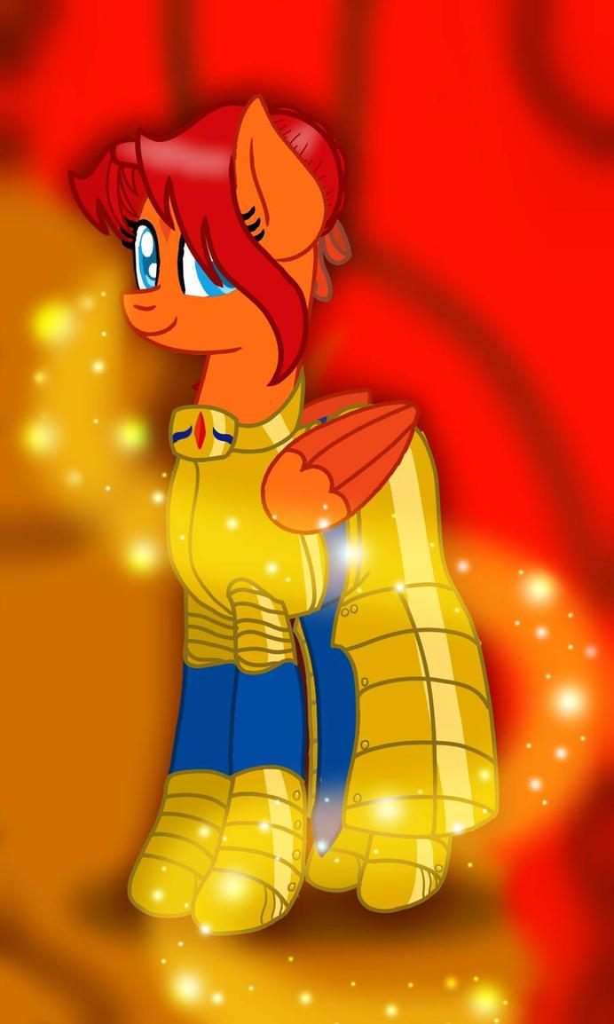 {GoldenFox} Female Saber by NightFallArt32