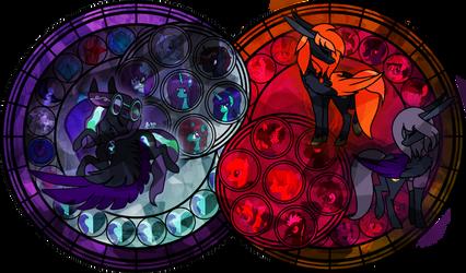 {Night Fall} Twin Stained Glass by NightFallArt32