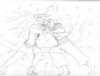 Vasto Lorde Ichigo Vs SSJ4 Gogeta by Animators-Voice