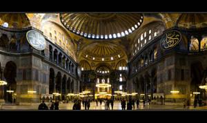 Hagia Sophia Interior by thesolitary