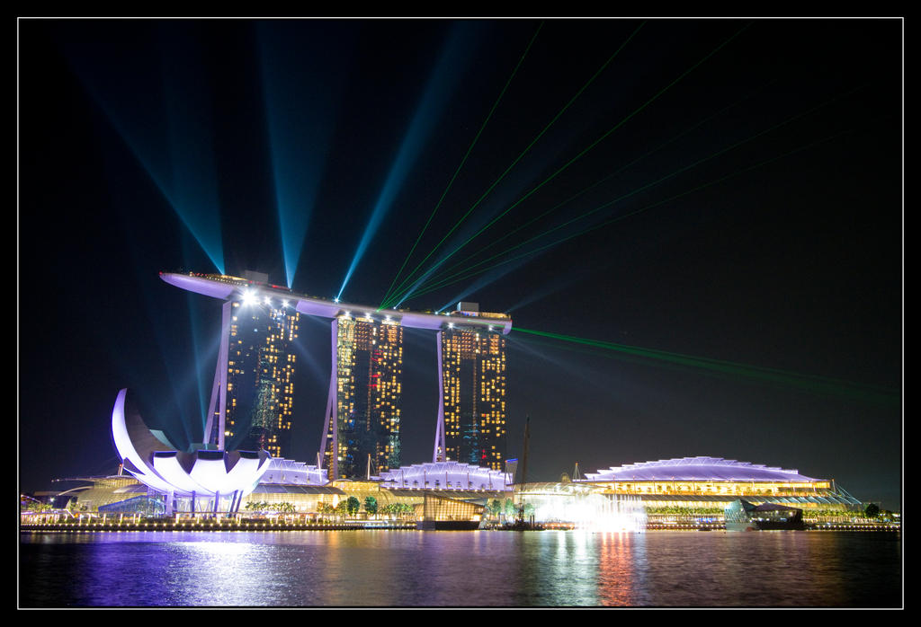 marina bay sands light show by thesolitary on deviantart