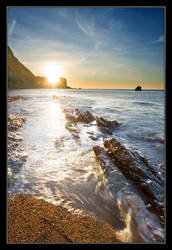 Jurassic Coast Sunrise by thesolitary