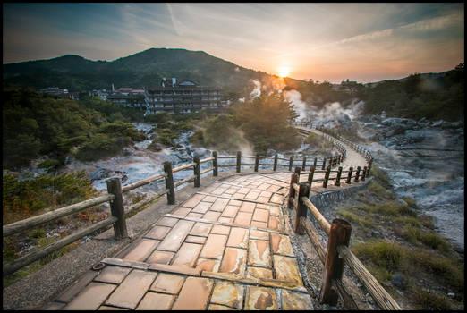 Sunset at Unzen Onsen