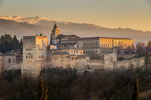 Sunset over the Alhambra