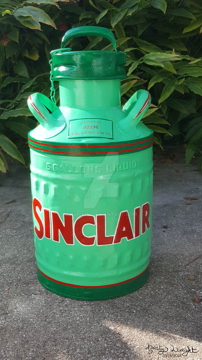 Sinclair 5 Gallons Oil Can