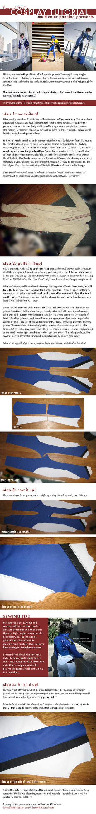 Cosplay Tutorial: Multi-Color Paneled Garments by firewolf826