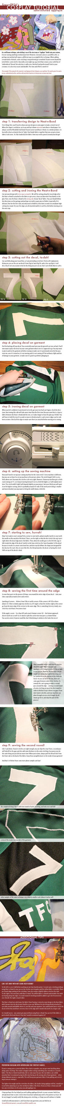 Cosplay Tutorial: Satin-Stitched Applique by firewolf826