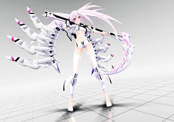 MMDNC - TDA White Rock Shooter by kinoko-hiou
