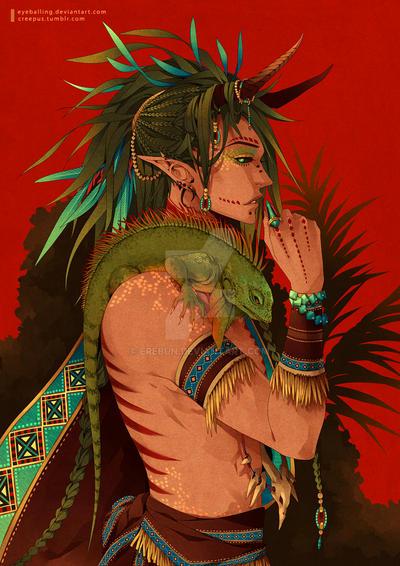 iguana by erebun