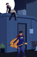 Batgirl/Catwoman Commission by Mro16