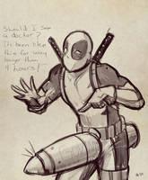 Deadpool Sketch by Mro16