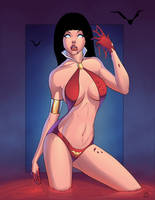 Vampirella Pin Up Collaboration by Mro16