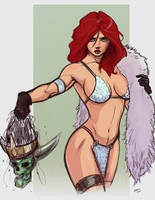 Red Sonja pin up(updated) by Mro16