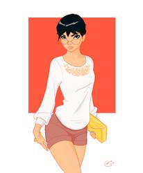 Glasses Girl by Mro16