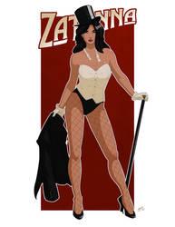 Zatanna Pin up Commission by Mro16