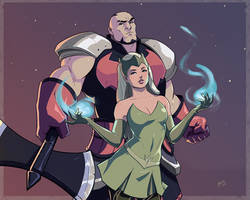 Amora the Enchantress and Skurge the Executioner by Mro16